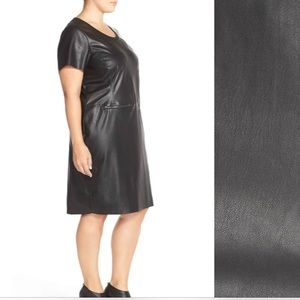 Junarose (Nordstrom) Faux Leather LBD NWT SzX1